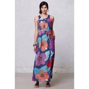 Anthropologie Maeve Floral Pakpao Maxi Dress 14